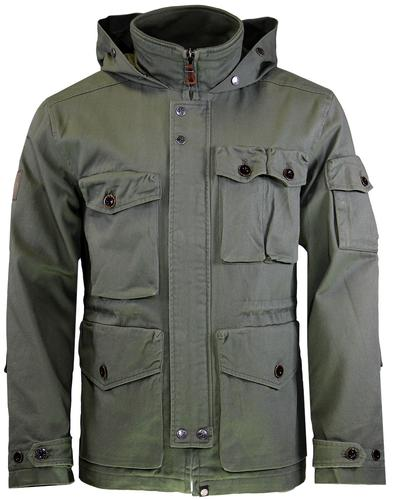 Belfast PRETTY GREEN Mod Hooded M65 Field Jacket