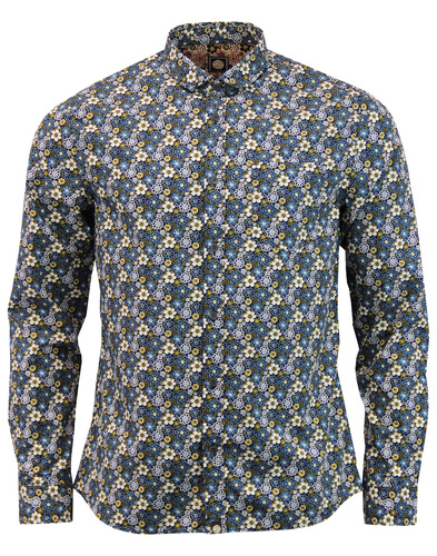 Manor PRETTY GREEN Mod Floral Penny Collar Shirt N