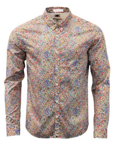 Mauvey PRETTY GREEN Octopus Liberty Paisley Shirt
