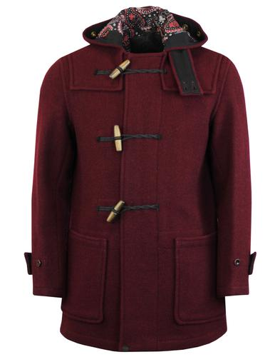 pretty green monty barrett coat burgundy mod
