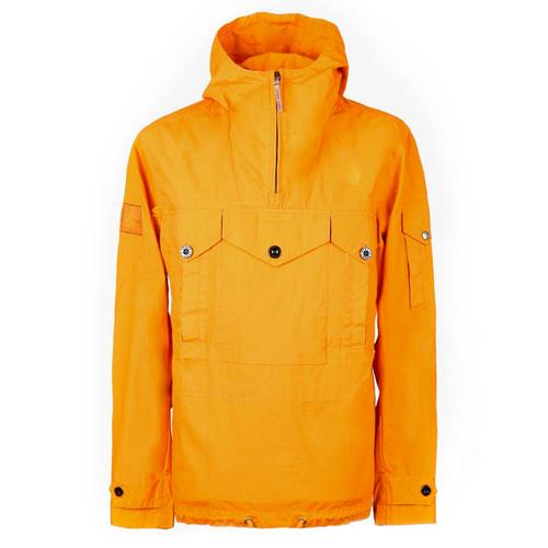 86b4ef18d5a6 Pretty Green Retro Overhead Cagoule Jacket Orange