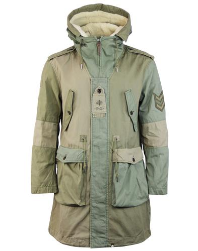 Grosvenor PRETTY GREEN Mod Contrast Panel Parka