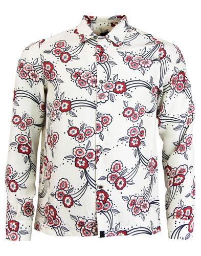 pretty green piper shirt stone mod