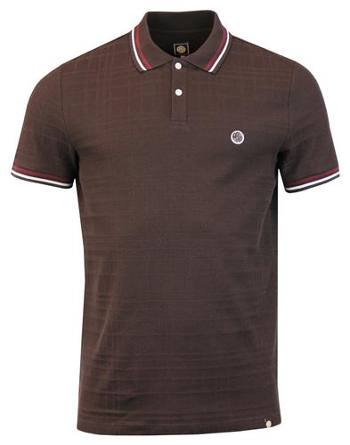 Arlow PRETTY GREEN 60s Mod Rib Check Polo Top DB
