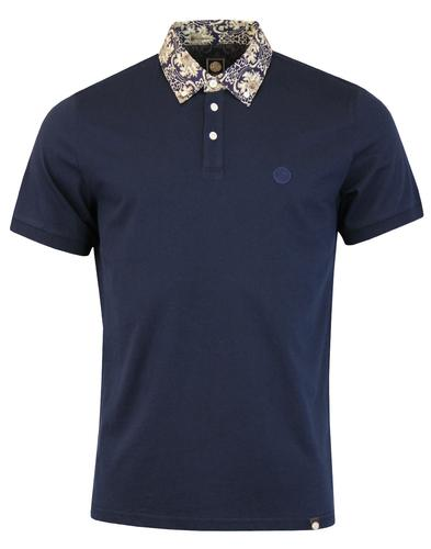 Wardour PRETTY GREEN 60s Mod Abstract Collar Polo