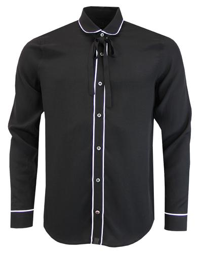 pretty green shine shirt black mod