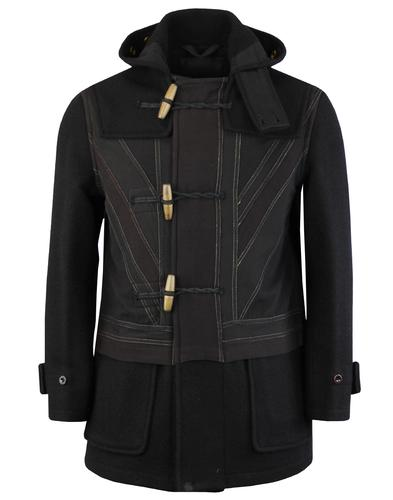 GLOVERALL x PRETTY GREEN Union Jack Duffle Coat B