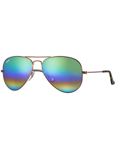 Rainbow Aviator RAY-BAN Retro 70s Sunglasses Green