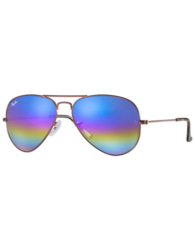 Rainbow Aviator RAY-BAN Retro 70s Sunglasses Blue
