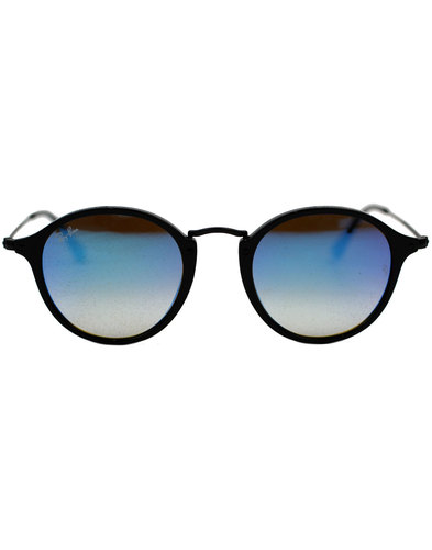 RAY-BAN Mod Blue Gradient Mirror Round Sunglasses