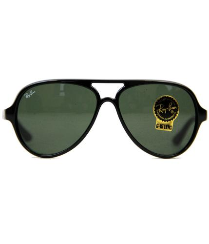 Cats 5000 Ray-Ban Retro Mod Aviator Sunglasses -Bl