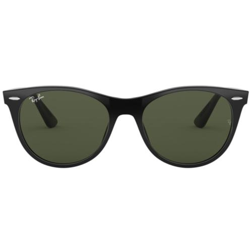 2870022089 Ray-Ban Round Wayfarer Sunglasses Black Green