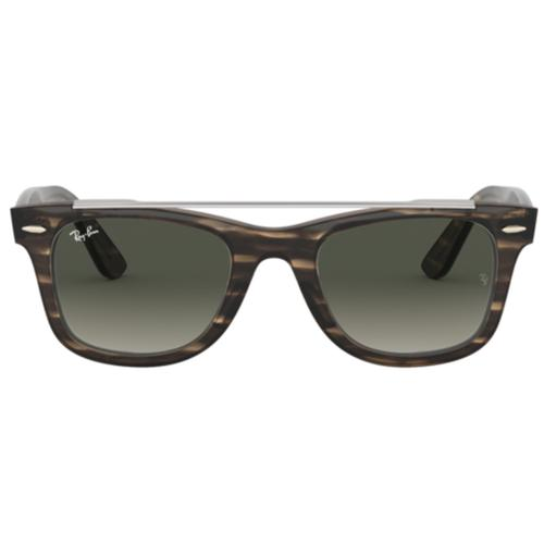 72f6d527f Ray-Ban Retro Brow Bar Stripe Wayfarer Sunglasses in Brown