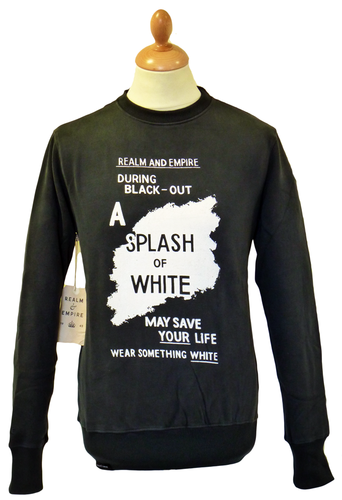 Splash of White REALM & EMPIRE Retro Sweatshirt