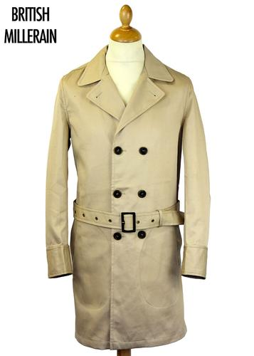 REALM & EMPIRE Retro Mod Officer Trench Coat (Be)