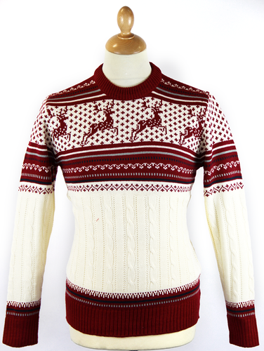'Singing in the Reindeer' Retro Christmas Jumper R