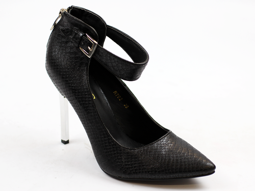 'Jerry' Retro 70s Ankle Strap High Heel Shoes (B)
