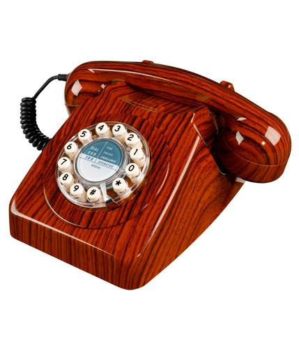 746 Retro Sixties Mod British Retro Wood Telephone