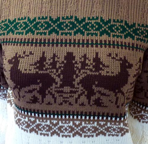 Love Reindeer O'er Me - Retro 70s Christmas Jumper