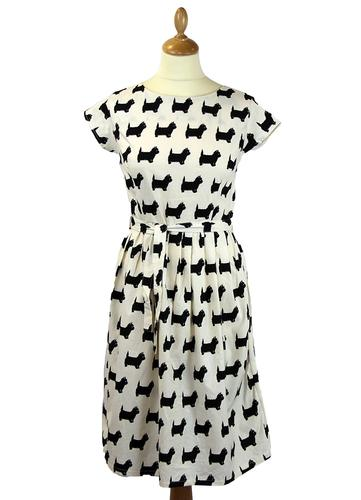 Scottie Dog Retro 1950s Vintage Summer Tea Dress