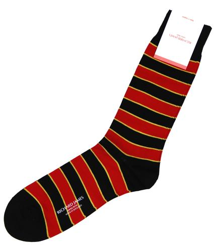 Hernandes RICHARD JAMES Retro Rugby Stripe Socks