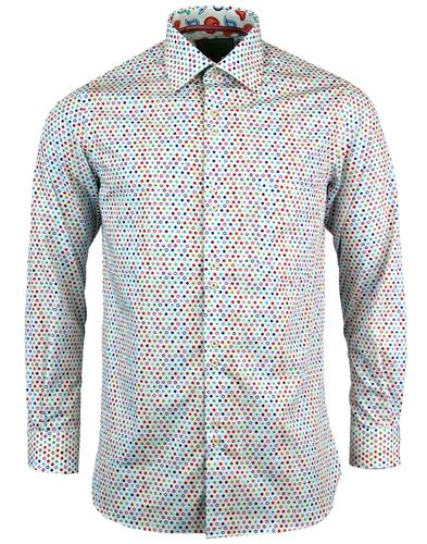 ROCOLA Retro Mini Mod Target Paisley trim Shirt