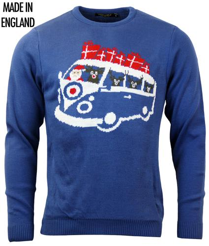 Happy Camper RUN & FLY Retro 70s Christmas Jumper