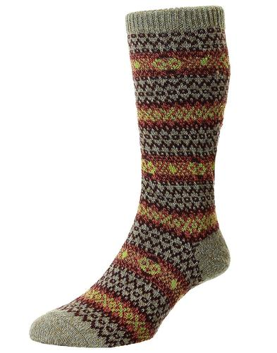 +Felbrigg SCOTT-NICHOL Country Fairisle Wool Socks