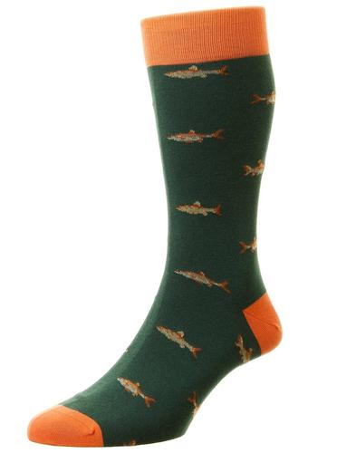 + Taswood Fishing SCOTT-NICHOL Retro Mens Socks