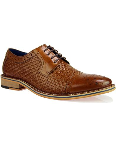 Gabriel SERGIO DULETTI Retro Weave Brogue Shoes