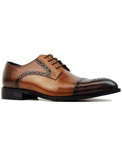 West 2 SERGIO DULETTI Retro Mod Toe Cap Brogues