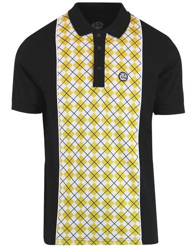 SKA & SOUL Northern Soul Argyle Panel Polo Top (B)