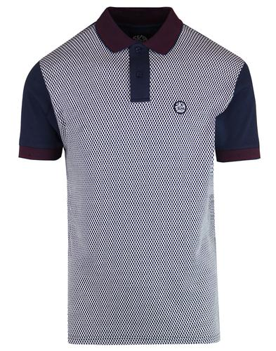 SKA & SOUL Mod Mini Ska Checkerboard Polo Shirt N