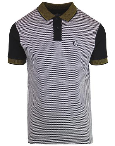 SKA & SOUL Mens Mod Ska Mini Checkerboard Polo Top
