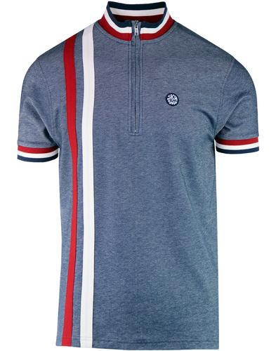 SKA & SOUL Retro 60s Racing Stripe Mod Cycling Top