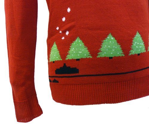 'Snow Invaders' Retro 70s Indie Christmas Jumper