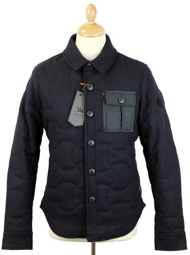 SPIEWAK Quilted CPO Retro Mod Melton Short Jacket