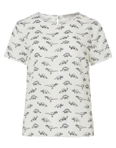 Sugarhill Boutique Retro Dinosaur Top Cream