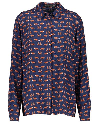 Erin SUGARHILL BOUTIQUE Retro Foxes Print Shirt