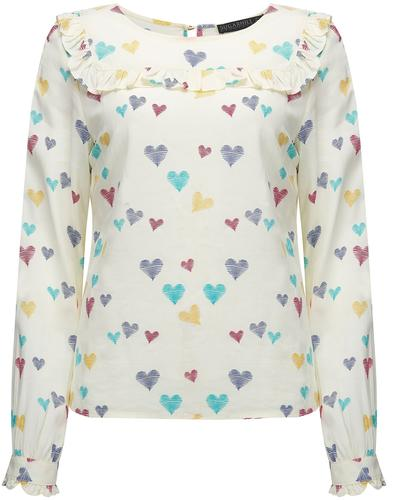 Jessie SUGARHILL BOUTIQUE Scribble Heart Frill Top