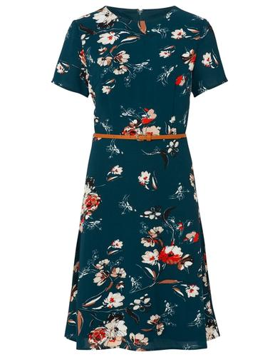 Ohara SUGARHILL BOUTIQUE Retro Floral Tea Dress