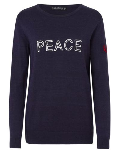 Rita SUGARHILL BOUTIQUE Retro Peace & Love Jumper