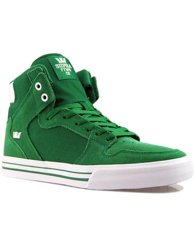Vaider SUPRA Retro 90s Hi Top Board Trainers GREEN