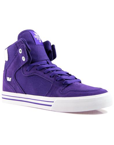 Vaider SUPRA Retro 90s Hi Top Board Trainers (P/W)