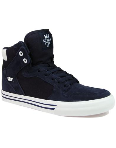 Vaider SUPRA Retro 90s Hi Top Board Trainers NAVY