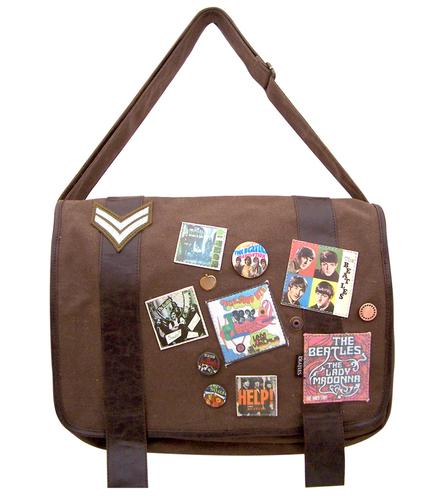 Military Satchel BEATLES Retro 60s Shoulder Bag