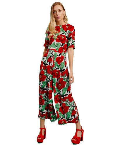 Bianca TRAFFIC PEOPLE Retro 70s Poppy Jumpsuit