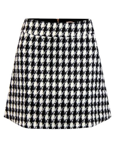TRAFFIC PEOPLE Retro 60s Mod Dogtooth Mini Skirt