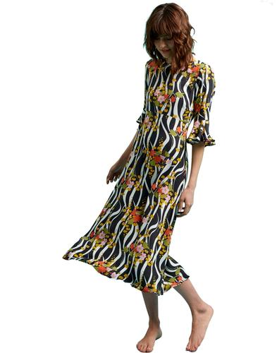 Luck Be A Lady TRAFFIC PEOPLE Zebra Print Dress
