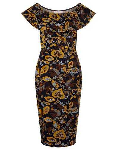 TRAFFIC PEOPLE Retro 50s Vintage Wiggle Dress